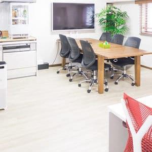 観葉植物が置かれた整理されたオフィス