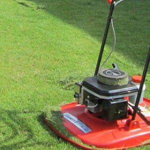 芝刈り機で行う芝刈り