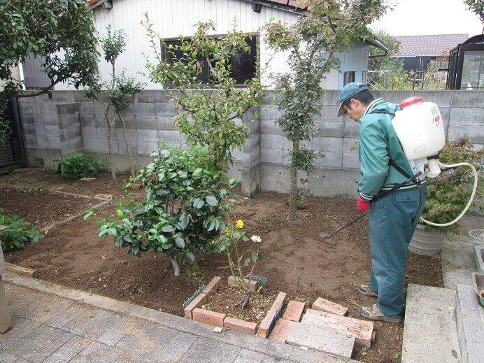作業完了後のお庭